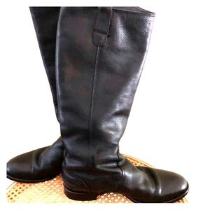 Madewell Allie black leather riding boots size 8